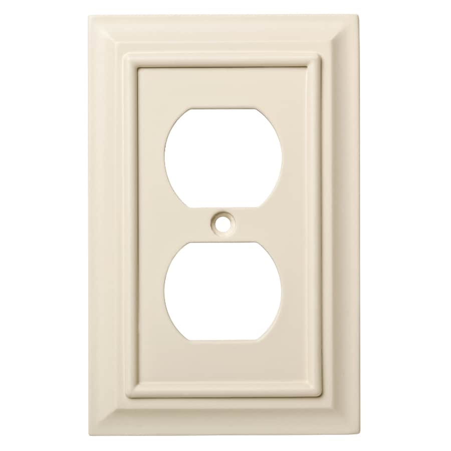 Brainerd Wood Architectural 1 Gang Light Almond Single Duplex Wall Plate