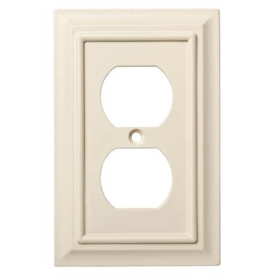 Wood Architectural 1 Gang Light Almond Single Standard Wall Plate
