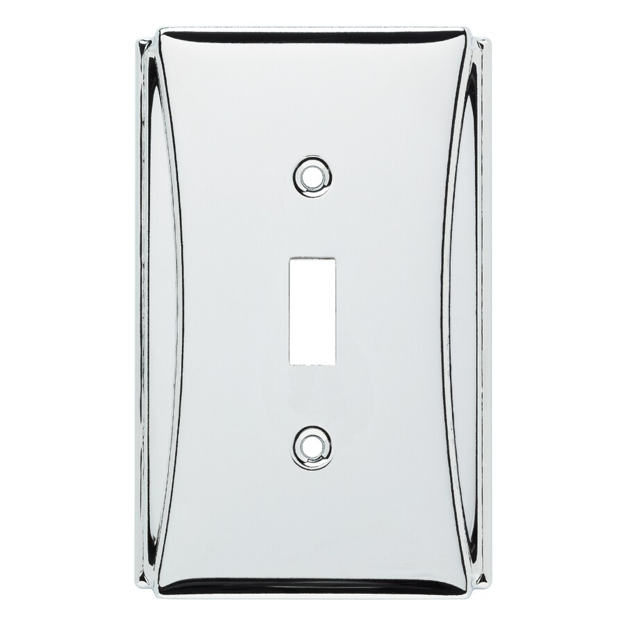 Brainerd Upton 1-Gang Polished Chrome Single Toggle Wall Plate