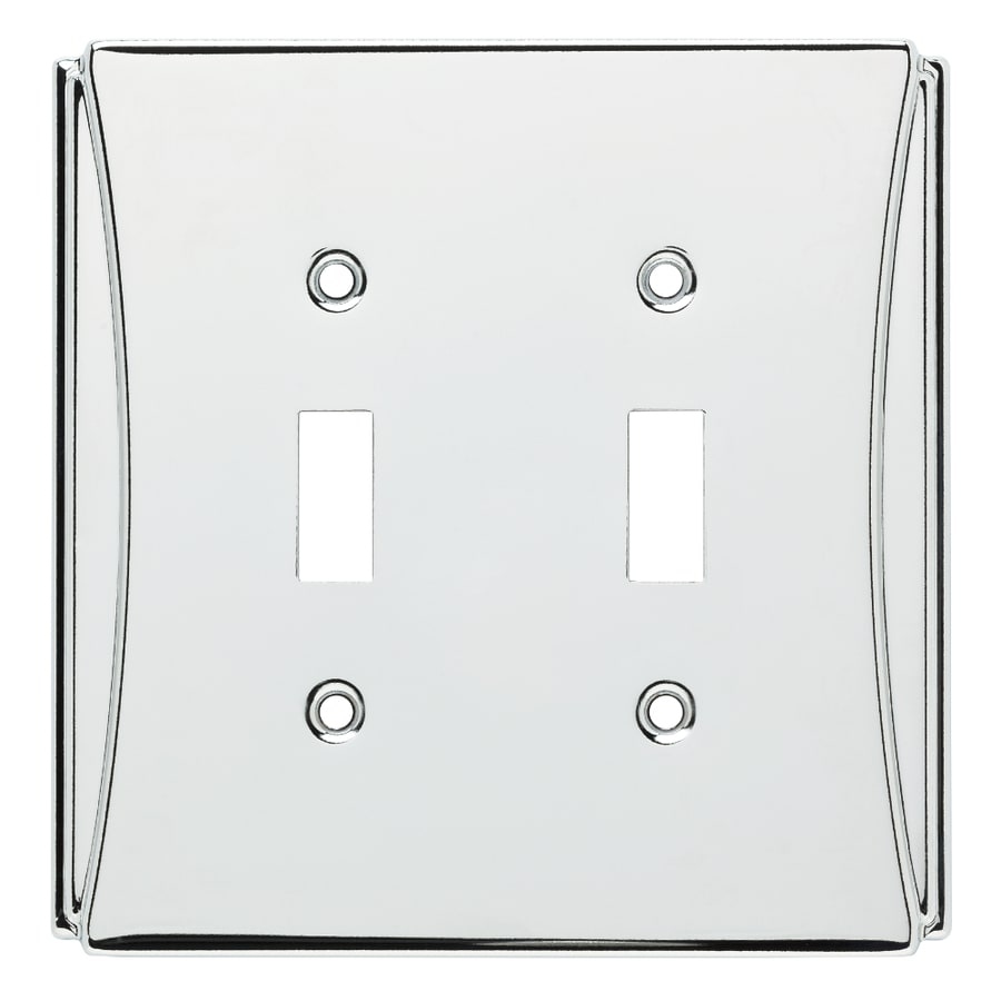 Brainerd Upton 2-Gang Polished Chrome Double Toggle Wall Plate