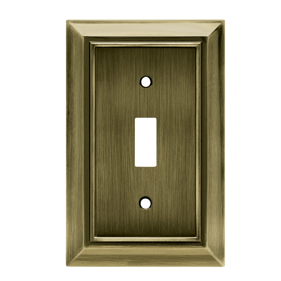 Brainerd Architectural 1-Gang Antique Brass Single Toggle Wall Plate