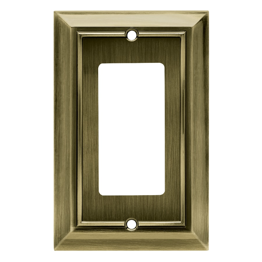 Brainerd Architectural 1-Gang Antique Brass Single Decorator Wall Plate