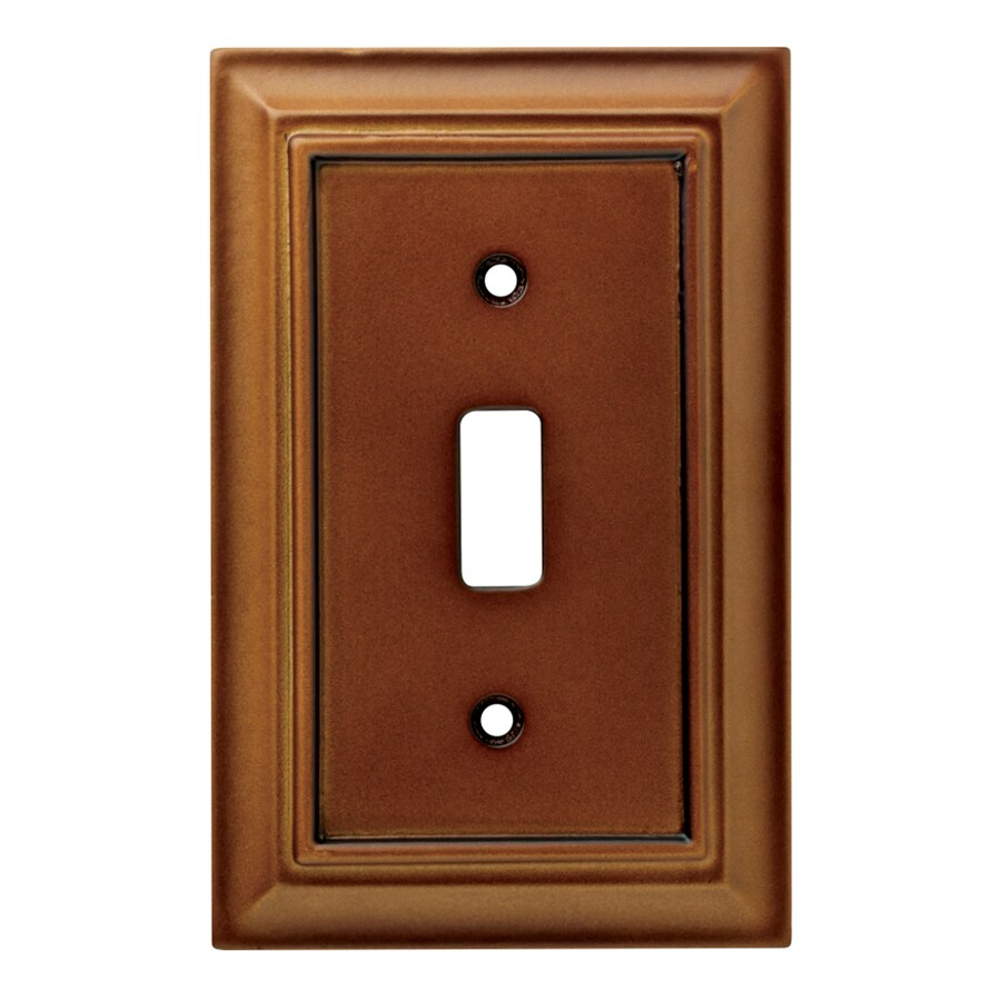Brainerd Wood Architectural 1-Gang Saddle Single Toggle Wall Plate