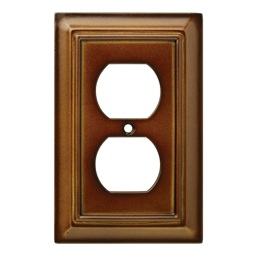Brainerd Wood Architectural 1-Gang Saddle Single Duplex Wall Plate