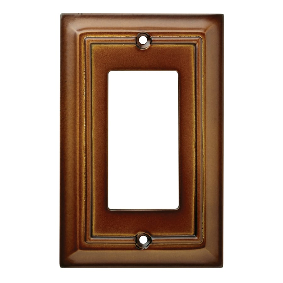 Brainerd Wood Architectural 1-Gang Saddle Single Decorator Wall Plate