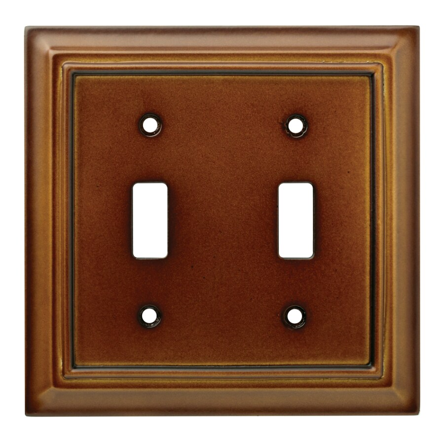 Brainerd Wood Architectural 2-Gang Saddle Double Toggle Wall Plate