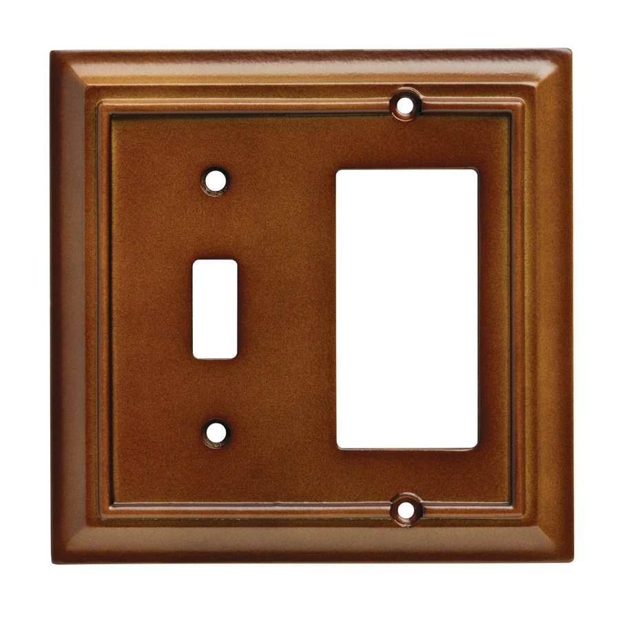 Brainerd Wood Architectural 2-Gang Saddle Double Toggle/Decorator Wall Plate