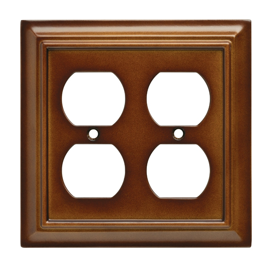 Brainerd Wood Architectural 2-Gang Saddle Double Duplex Wall Plate
