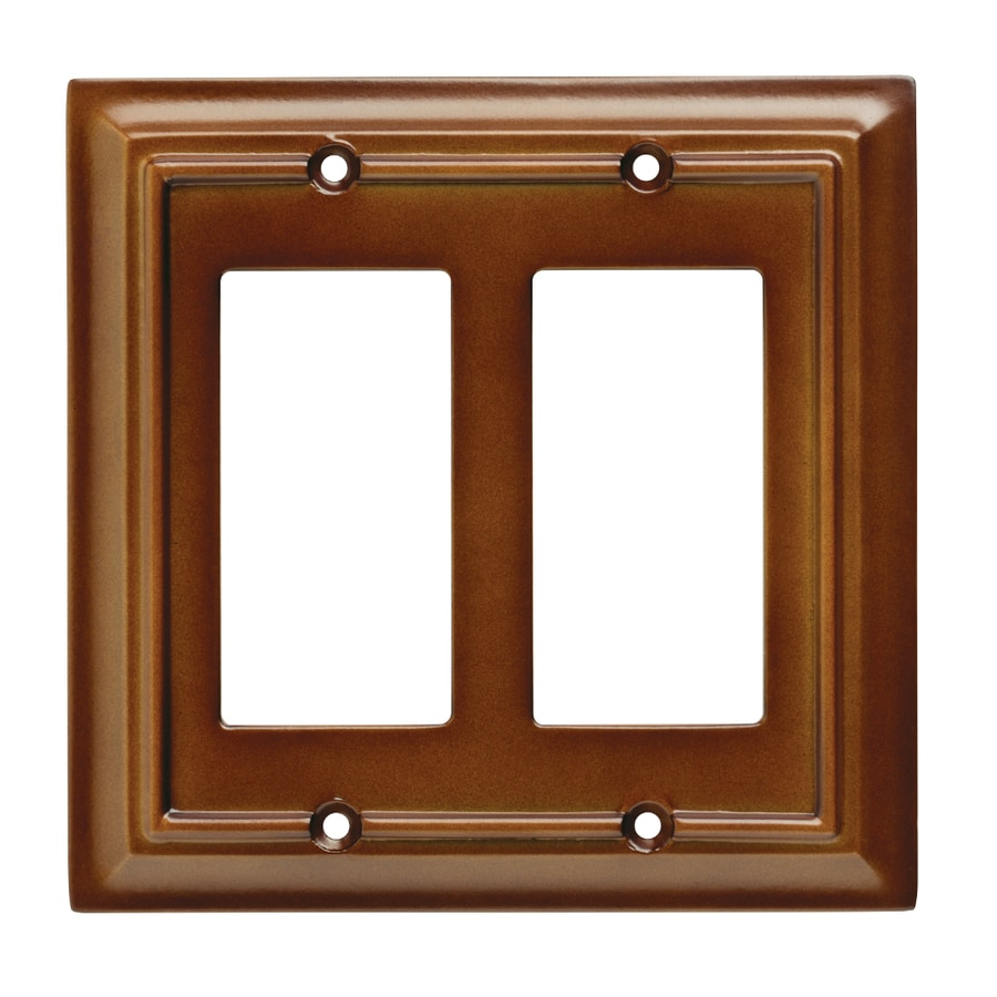 Brainerd Wood Architectural 2-Gang Saddle Double Decorator Wall Plate