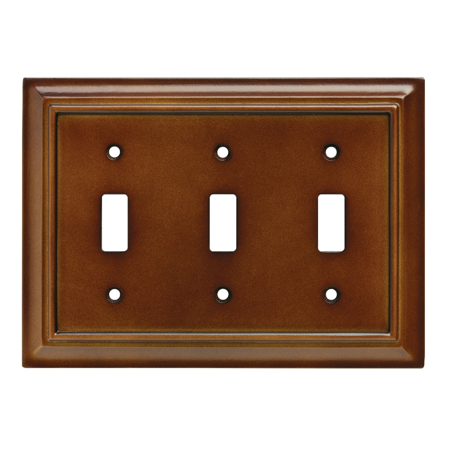 Brainerd Wood Architectural 3-Gang Saddle Triple Toggle Wall Plate