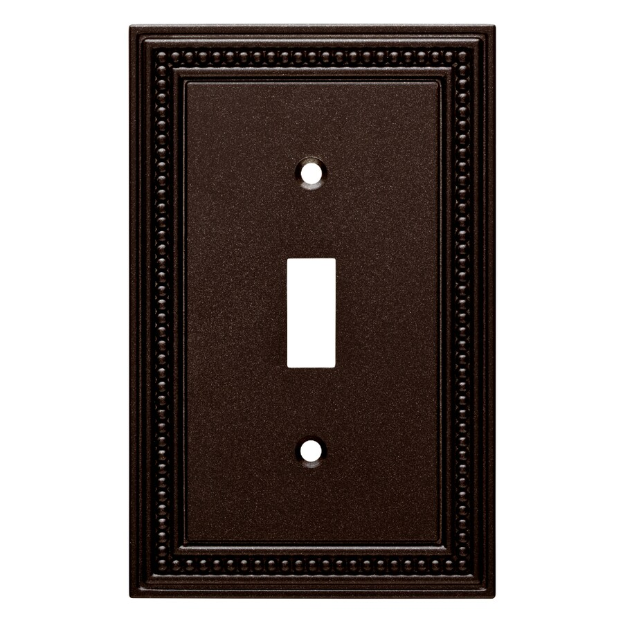 Brainerd Beaded 1-Gang Cocoa Bronze Single Toggle Wall Plate