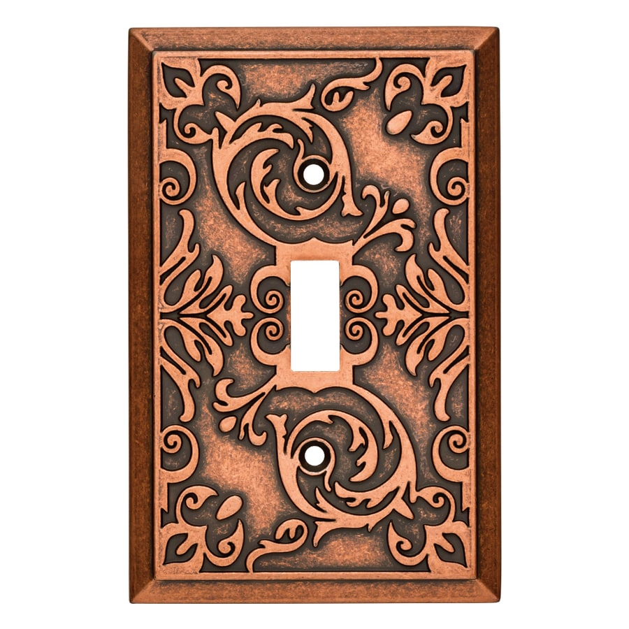 Brainerd Fairhope 1-Gang Sponged Copper Single Toggle Wall Plate