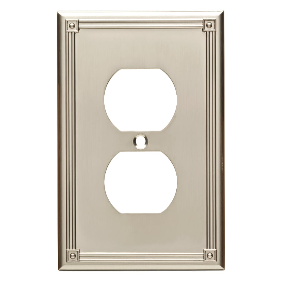Brainerd Ruston 1-Gang Satin Nickel Single Duplex Wall Plate