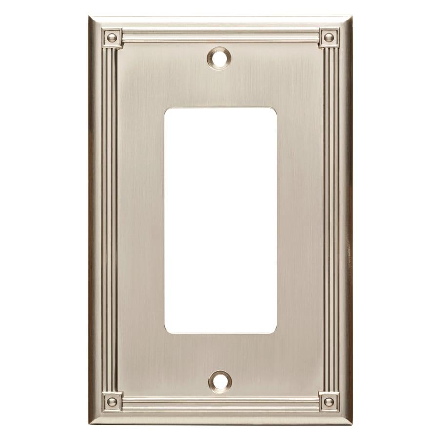 Brainerd Ruston 1-Gang Satin Nickel Single Decorator Wall Plate