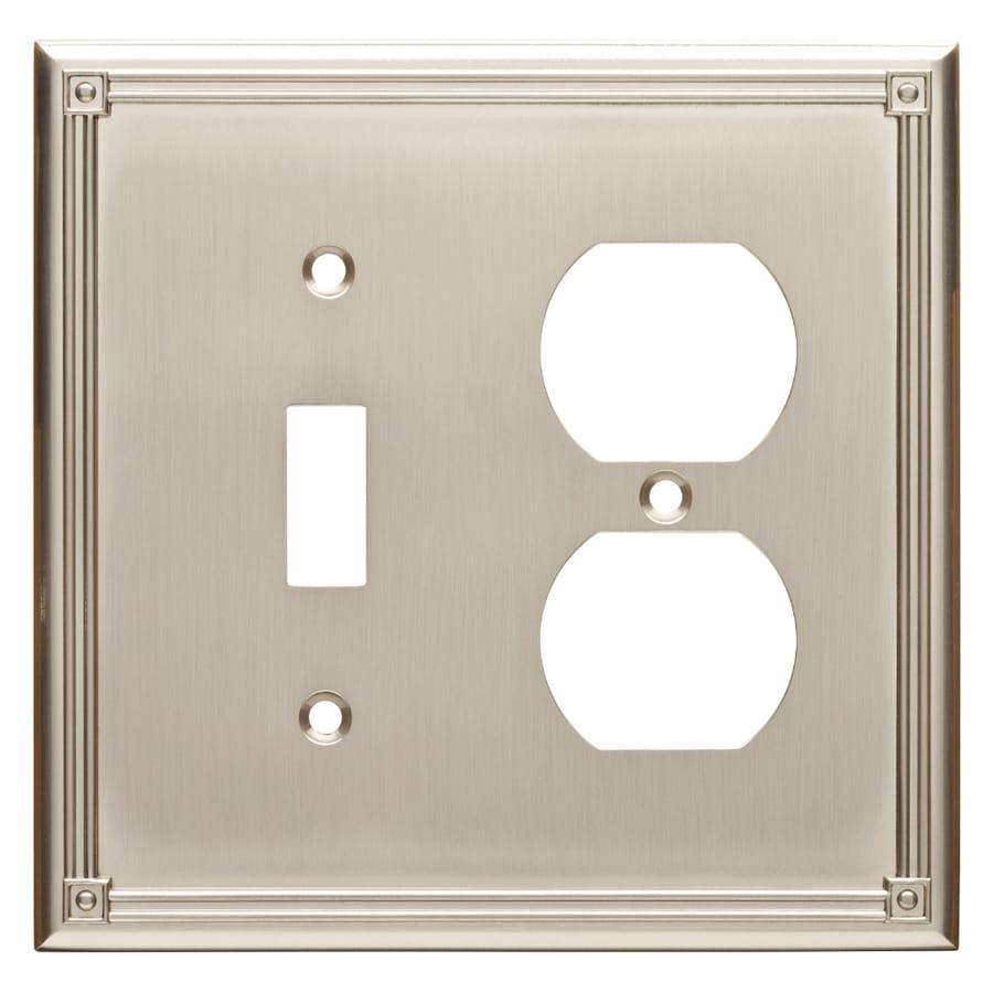 Brainerd Ruston 2-Gang Satin Nickel Single Toggle/Duplex Wall Plate