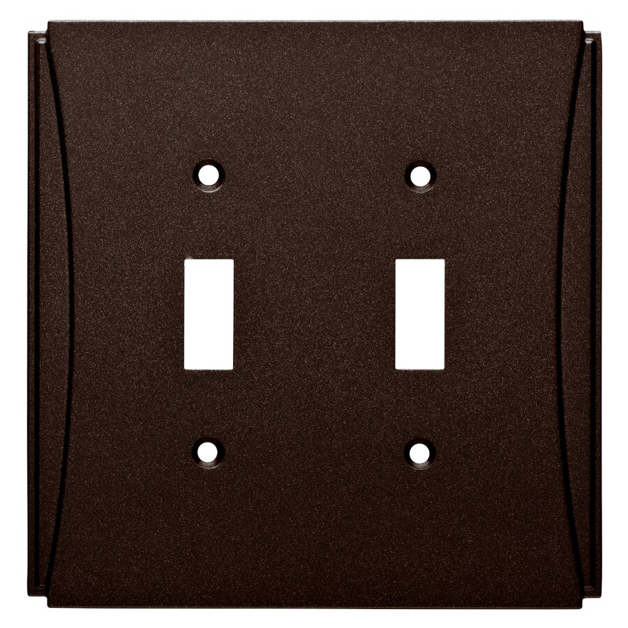 Brainerd Upton 2-Gang Cocoa Bronze Double Toggle Wall Plate
