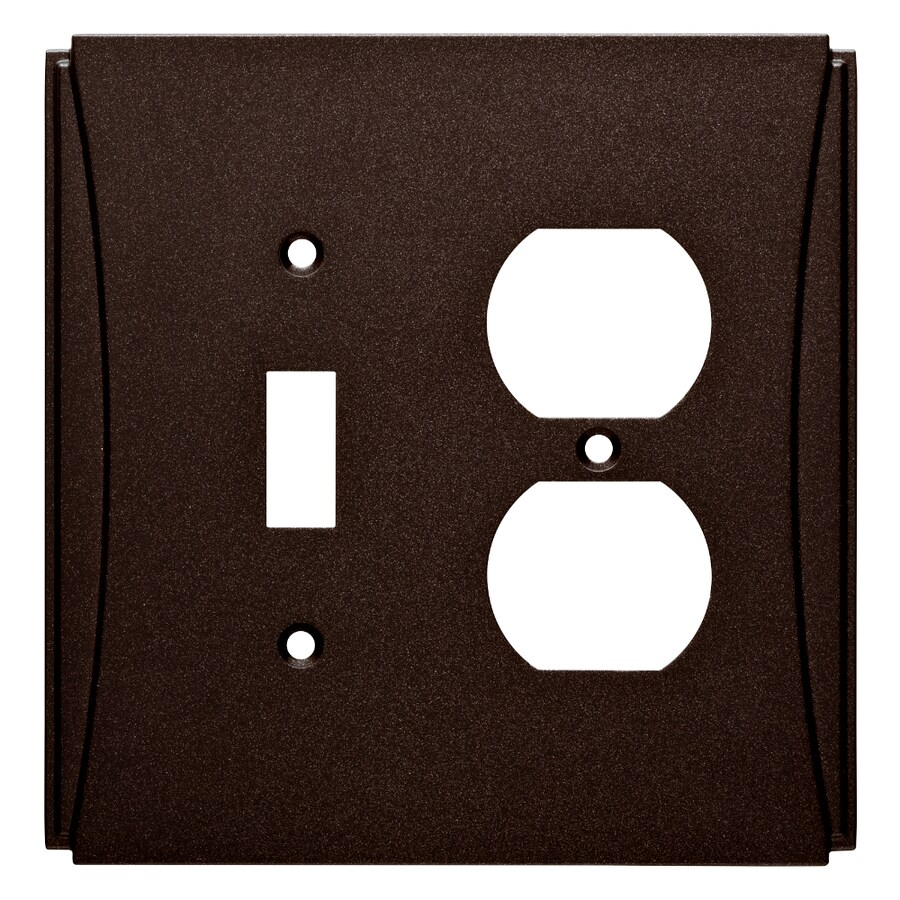 Brainerd Upton 2-Gang Cocoa Bronze Single Toggle/Duplex Wall Plate
