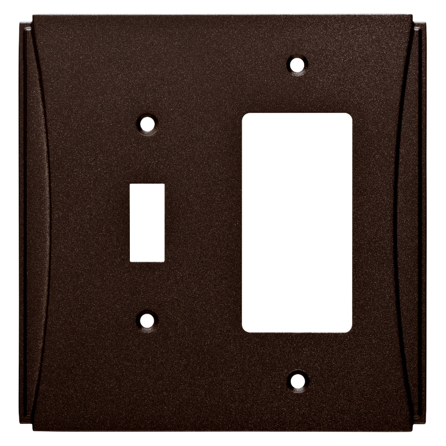 Brainerd Upton 2-Gang Cocoa Bronze Single Toggle/Decorator Wall Plate