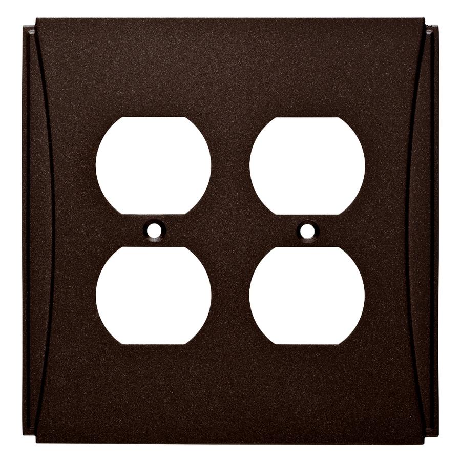 Brainerd Upton 2-Gang Cocoa Bronze Double Duplex Wall Plate
