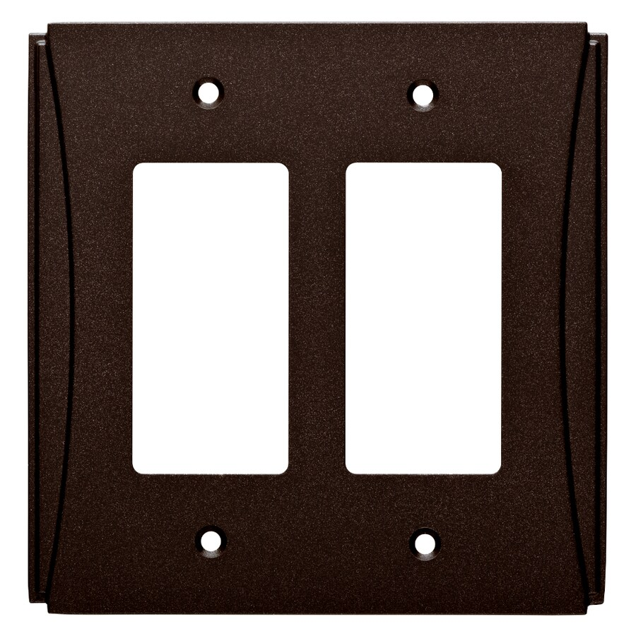 Brainerd Upton 2-Gang Cocoa Bronze Double Decorator Wall Plate