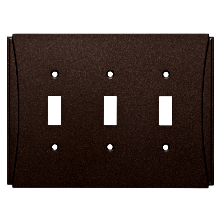 Brainerd Upton 3-Gang Cocoa Bronze Triple Toggle Wall Plate