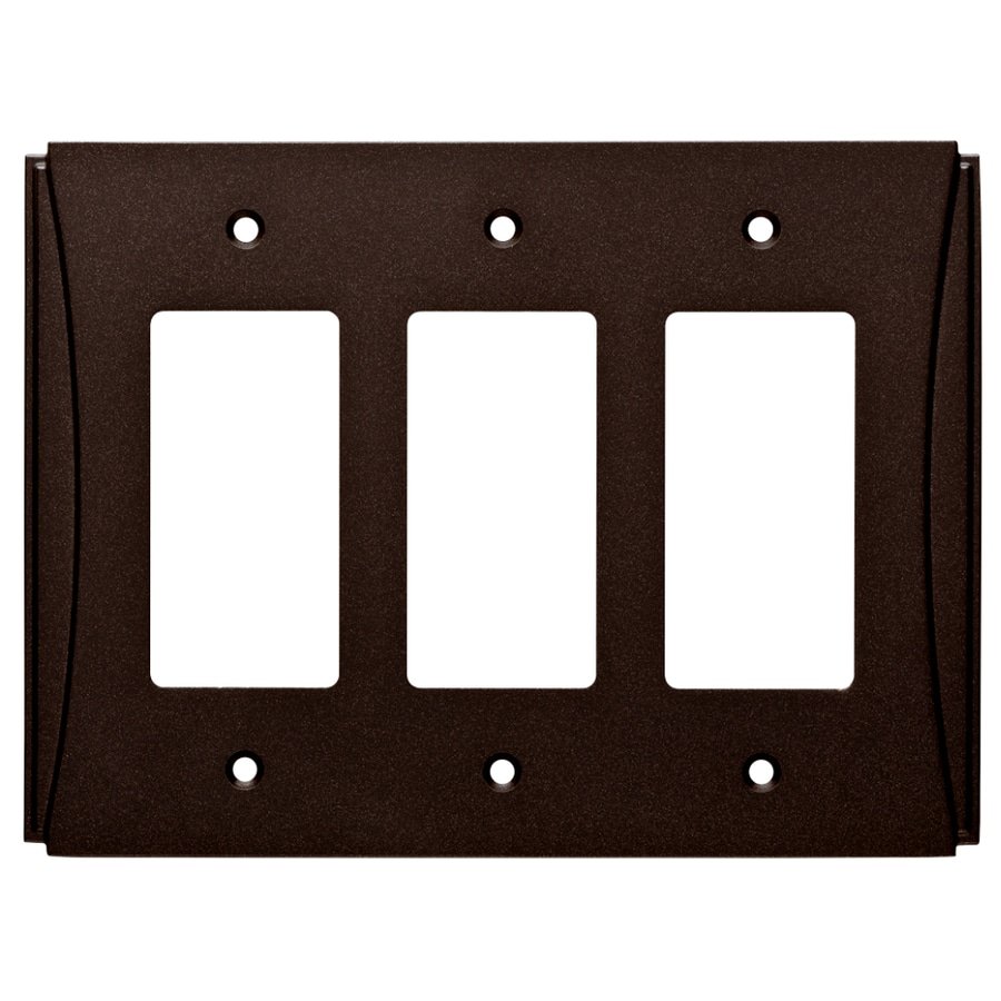 Brainerd Upton 3-Gang Cocoa Bronze Triple Decorator Wall Plate