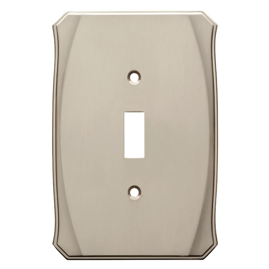 Brainerd Serene 1-Gang Satin Nickel Single Toggle Wall Plate