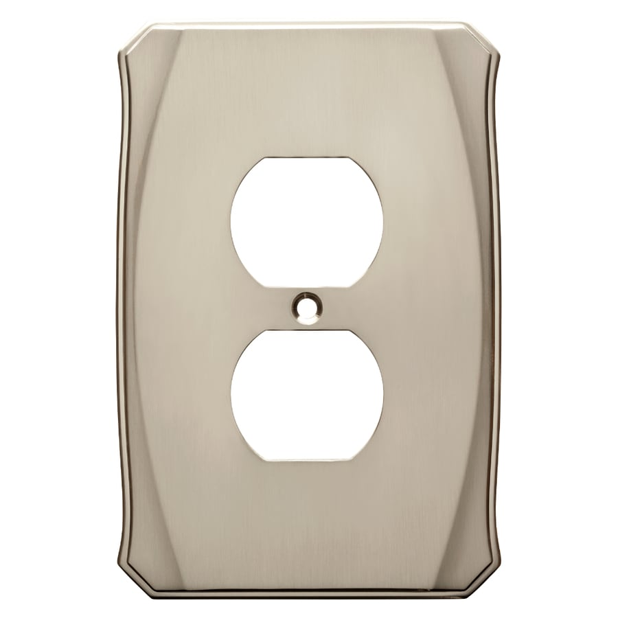 Brainerd Serene 1-Gang Satin Nickel Single Duplex Wall Plate