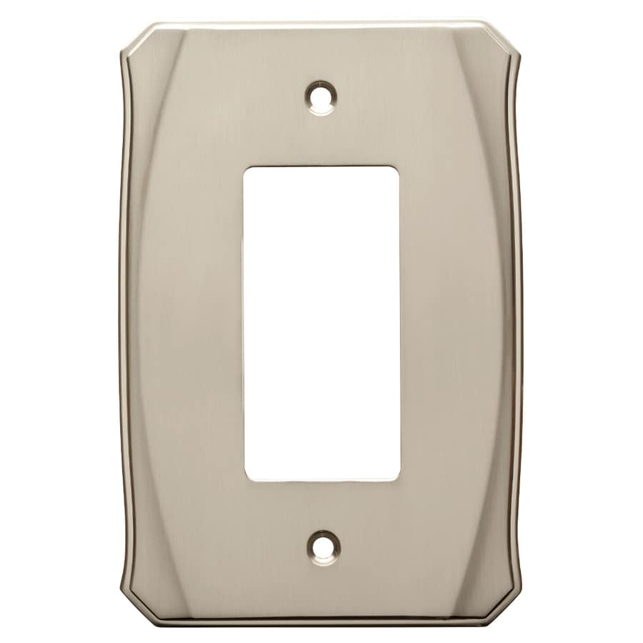 Brainerd Serene 1-Gang Satin Nickel Single Decorator Wall Plate
