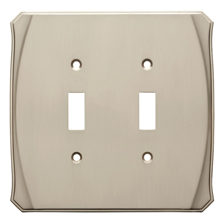 Brainerd Serene 2-Gang Satin Nickel Double Toggle Wall Plate