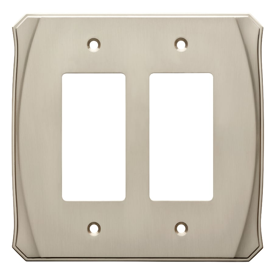 Brainerd Serene 2-Gang Satin Nickel Double Decorator Wall Plate