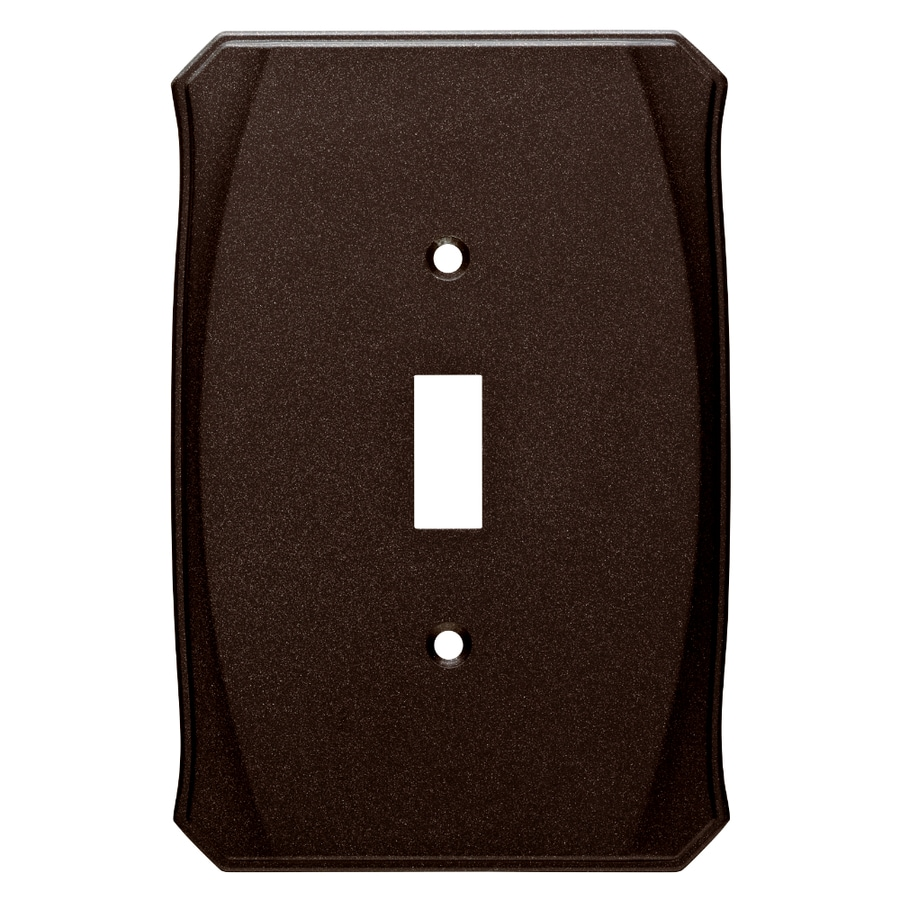 Brainerd Serene 1-Gang Cocoa Bronze Single Toggle Wall Plate