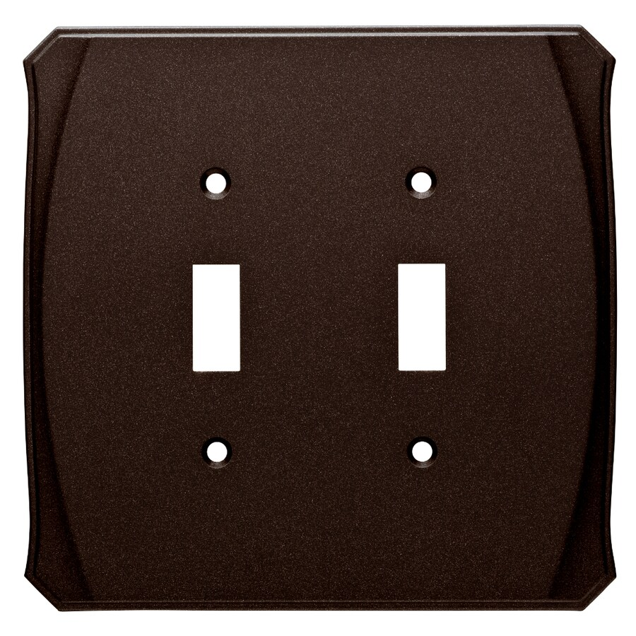 Brainerd Serene 2-Gang Cocoa Bronze Double Toggle Wall Plate