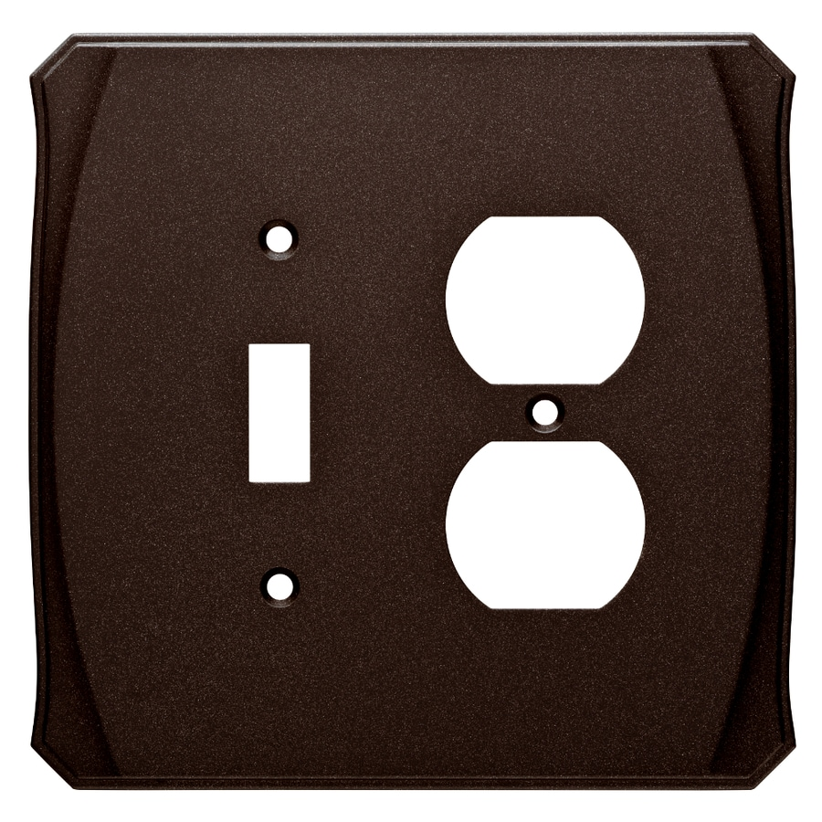 Brainerd Serene 2-Gang Cocoa Bronze Single Toggle/Duplex Wall Plate