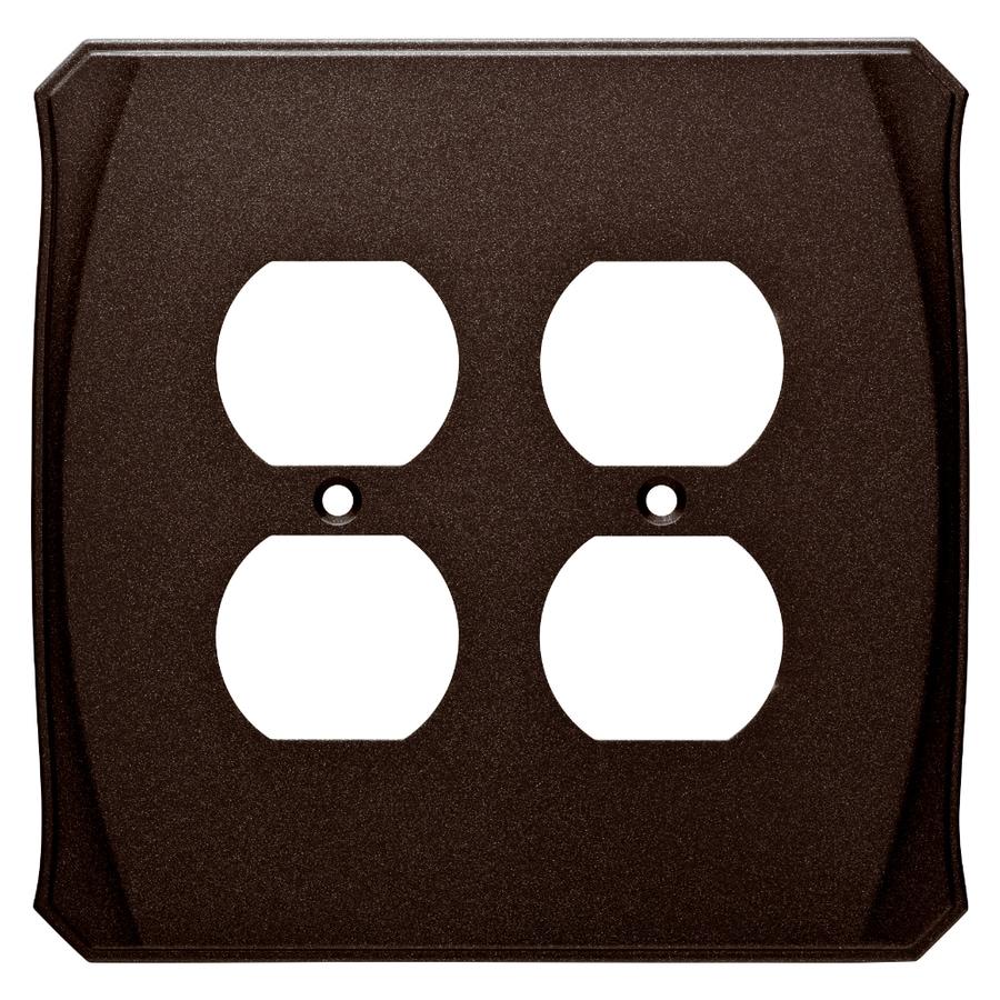 Brainerd Serene 2-Gang Cocoa Bronze Double Duplex Wall Plate