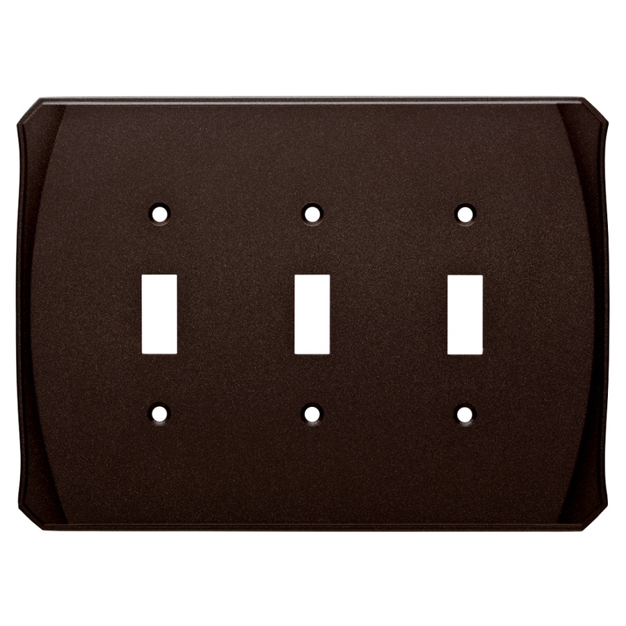 Brainerd Serene 3-Gang Cocoa Bronze Triple Toggle Wall Plate
