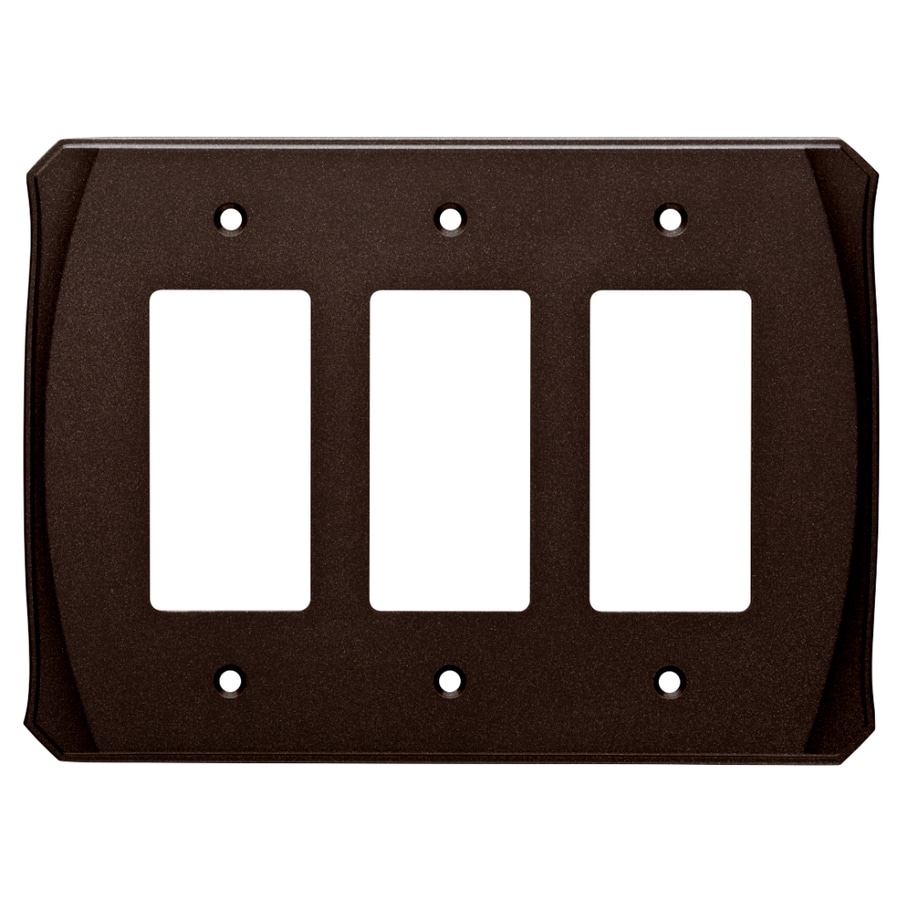 Brainerd Serene 3-Gang Cocoa Bronze Triple Decorator Wall Plate