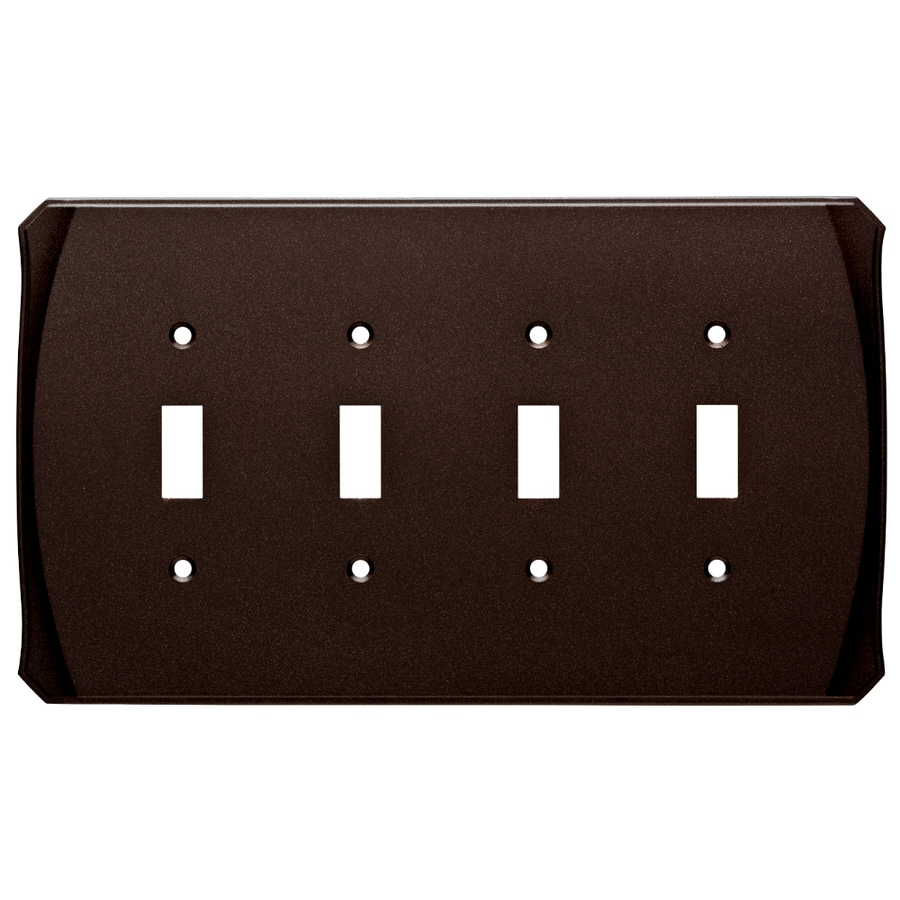 Brainerd Serene 4-Gang Cocoa Bronze Quad Toggle Wall Plate