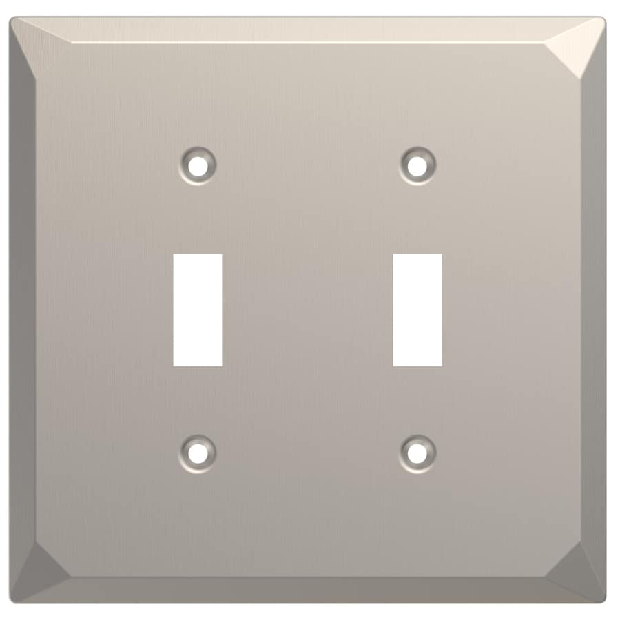 Brainerd 2-Gang Satin Nickel Double Toggle Wall Plate