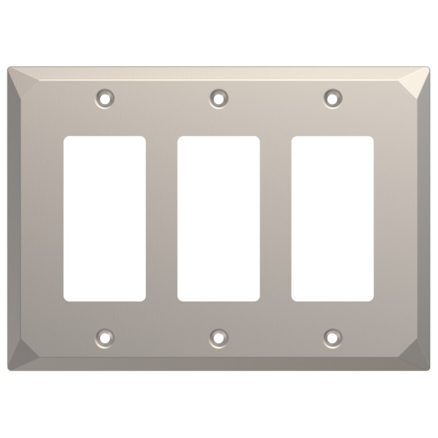 Brainerd Mornington 3-Gang Satin Nickel Triple Decorator Wall Plate