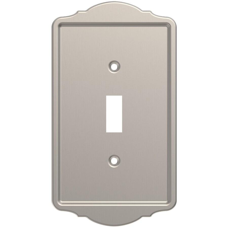Brainerd 1-Gang Satin Nickel Single Toggle Wall Plate