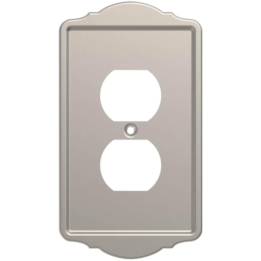 Brainerd 1-Gang Satin Nickel Single Duplex Wall Plate