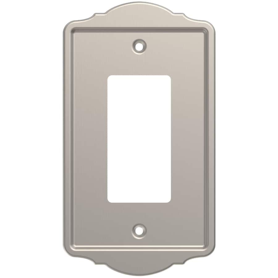Brainerd 1-Gang Satin Nickel Single Decorator Wall Plate
