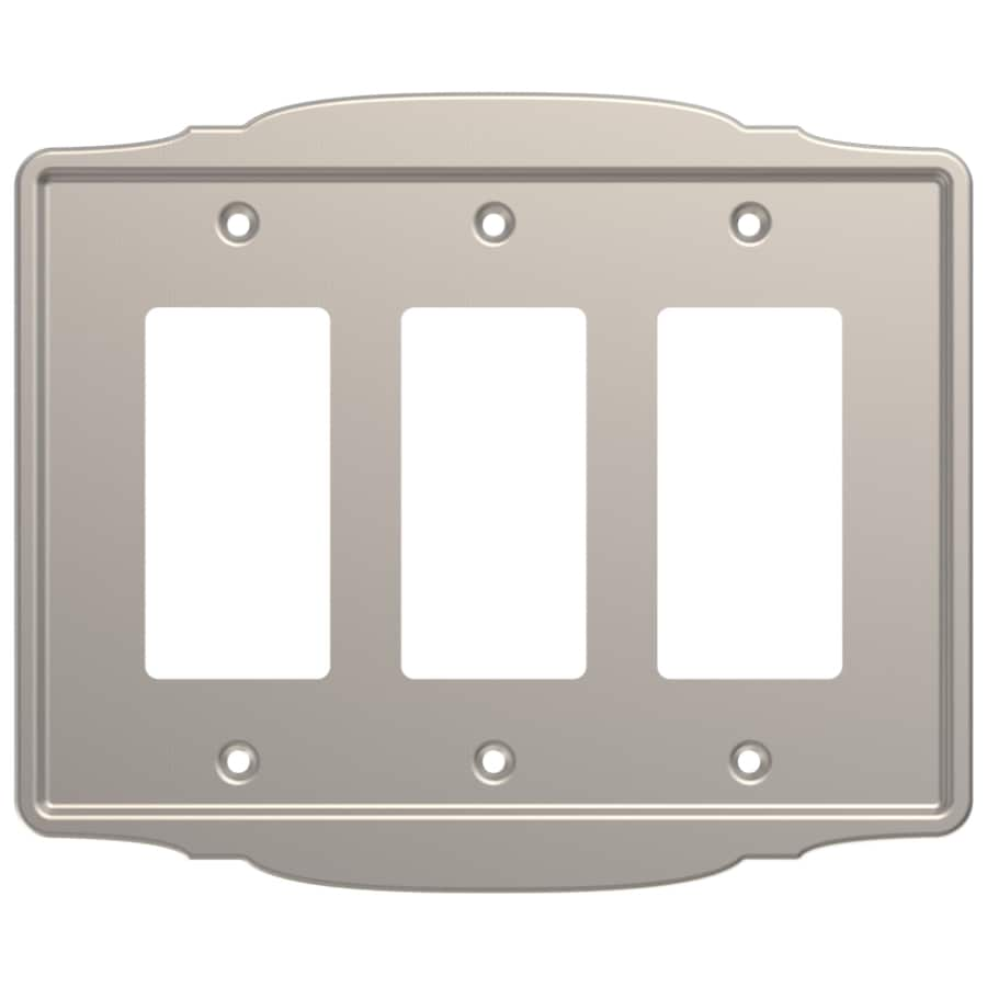 Brainerd 3-Gang Satin Nickel Triple Decorator Wall Plate