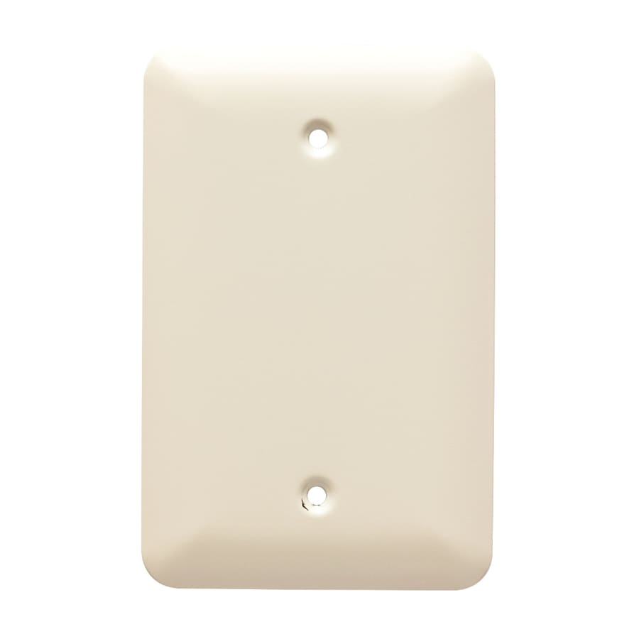 Brainerd Stamped Round 1-Gang Light Almond Single Blank Wall Plate