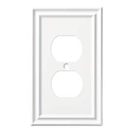 LOT OF 2 BRAINERD 144069 SINGLE DUPLEX RECEPTACLE OUTLET COVER WALL BELLAIRE