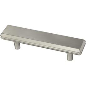 Brainerd Engraved Edge 3-in Center to Center Satin Nickel Rectangular Bar Cabinet Door Pull
