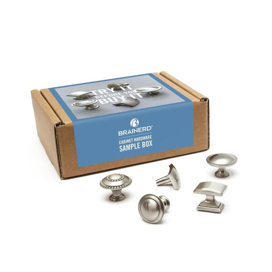 Brainerd Brushed Silver Cool S Cabinet Hardware Sample Box
