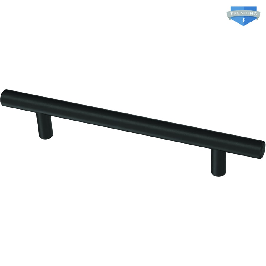 Brainerd Bar 5 1 16 In Center To Center Matte Black Cylindrical Bar Drawer Pulls In The Drawer Pulls Department At Lowes Com