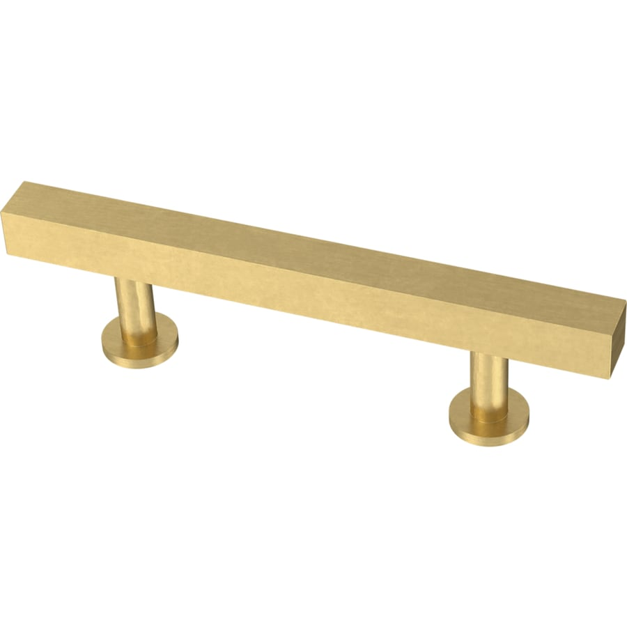 Brainerd Square Bar 3 In Center To Center Brushed Brass Rectangular Bar Drawer Pulls In The Drawer Pulls Department At Lowes Com